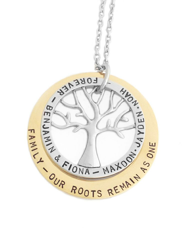 Fiona Cate - Family Tree - personalised handstamped jewellery designs