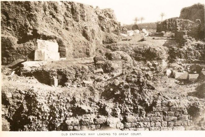 Photo of the Palace of Apries, Memphis, Egypt, by the excavator Sir Flinders Petrie. Source: National Museums Scotland Blog