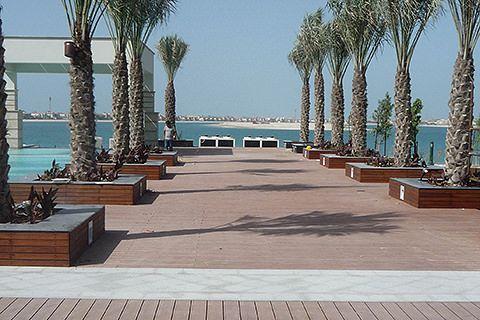 seaside wood plastic decking price , waterproof decking supplier