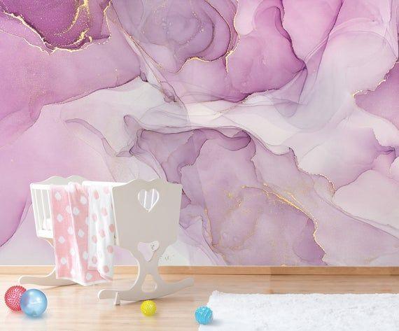 Abstract Wallpaper Pastel Colors Modern Design Peel Stick Etsy Marble Wall Mural Mural Peelable Wallpaper