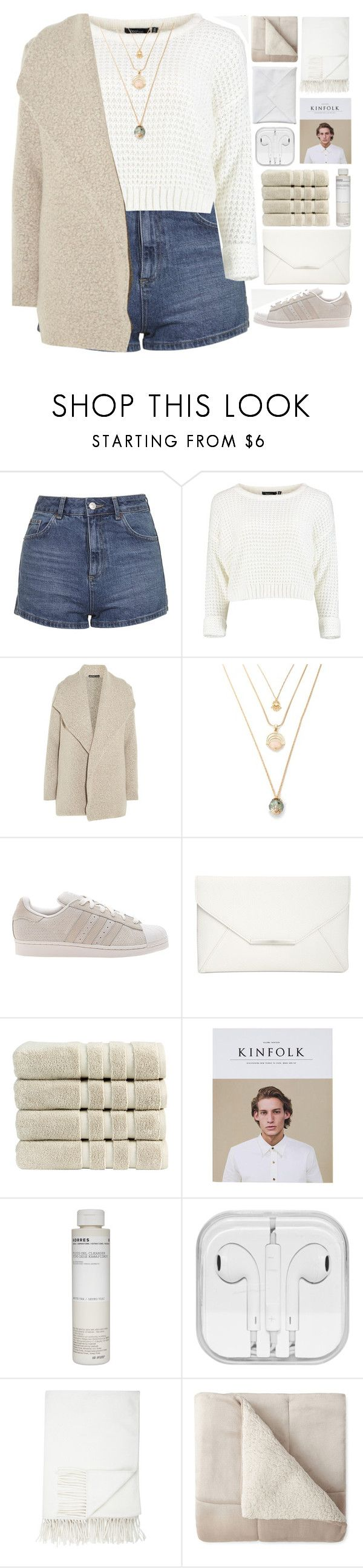 """""""#951"""" by giulls1 ❤ liked on Polyvore featuring Topshop, James Perse, adidas Originals, Style & Co., Christy, Korres, Barneys New York and JCPenney Home"""