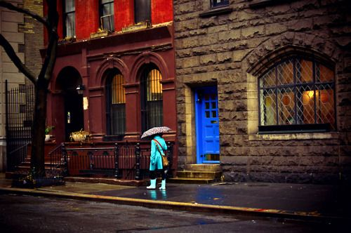 Rainy day. Greenwich Village, New York City.Vivienne Gucwa, Photos, Favorite Places, New York Cities, Cities Photography, New York City, Greenwich Village, Infused Afterglow, Rain Painting