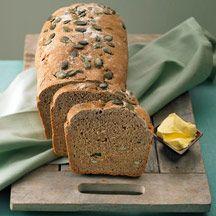 Dinkel- och rågbröd med pumpakärnor