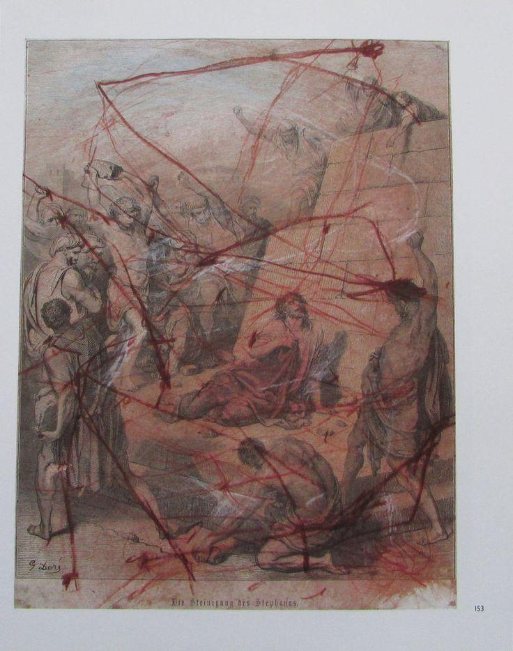 Arnulf Rainer DIE STEINIGUNG DES STEPHANUS Übermalung Kunstdruck print | eBay