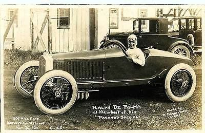 Indy 500 1923 Ralph DePalma Driver Car Packard Special Real Photo Postcard
