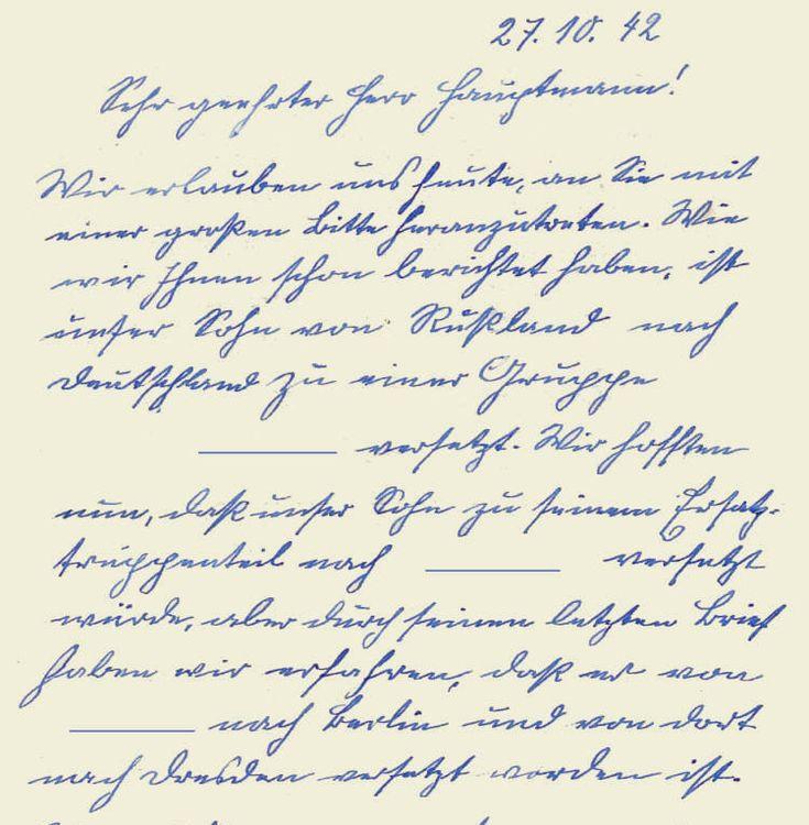 Gesuch von 1942, Teil 1 More