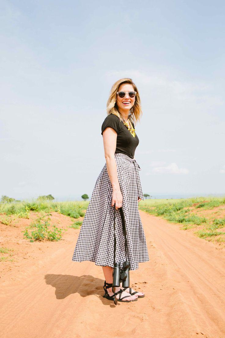 Sophia Bush and Sseko Designs in Uganda. Featuring the Black Ribbon Sandals. #ssekostyle