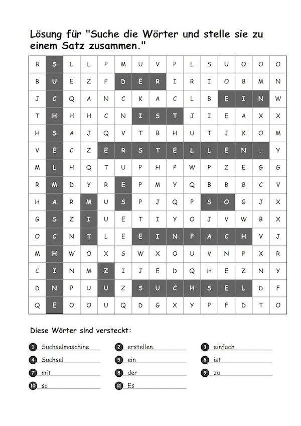 Suchsel Maschine - Rätsel erstellen leicht gemacht