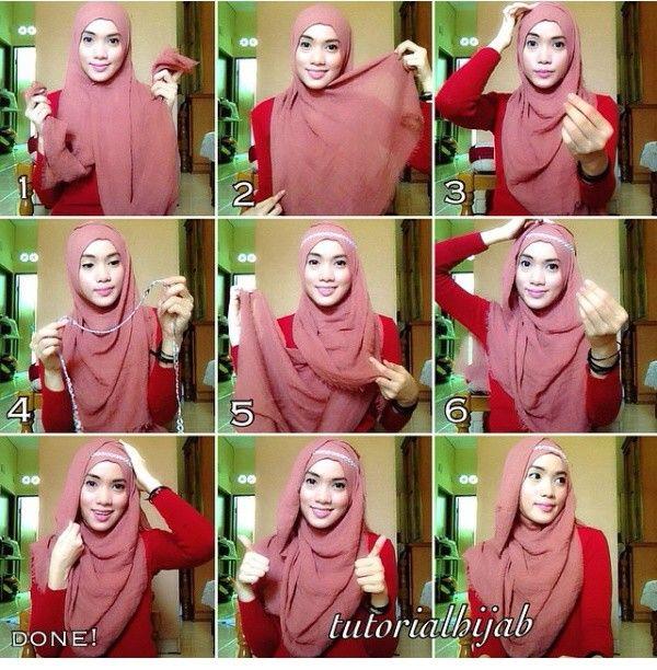 Pashmina rawis hijab style