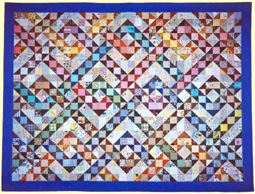 Quilt of Lex.  Pattern from Scrap Happy by Sally Schneider