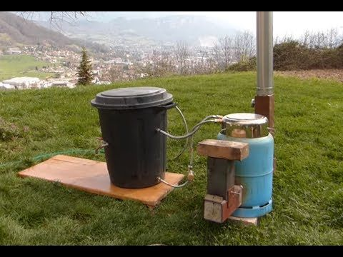 """Ep17 Chauffer sa """"piscine"""" avec un rocket stove / water heater with rocket stove - YouTube"""