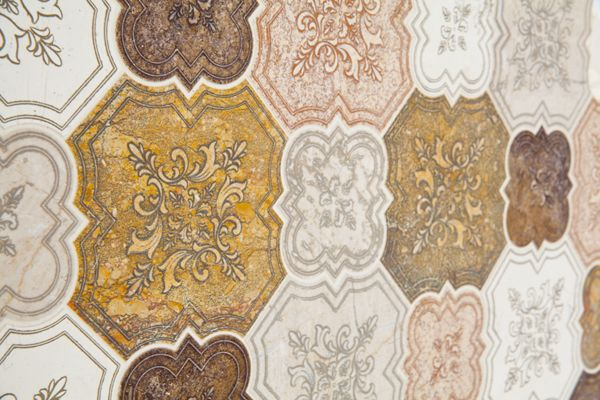 Palladio Collection. Natural Marble Mosaic. Engraving. Traditional style and design. Antique.