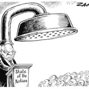 Zuma's 2010 State of the Nation address is given under the cloud of another sex scandal. The shower head is bigger than ever. | www.mg.co.za