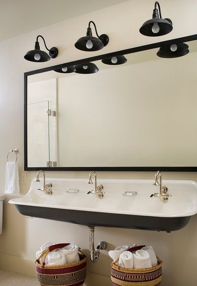 Rustic Bathroom by Massucco Warner Miller Interior Design