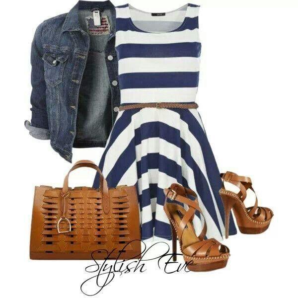 Stripes. Navy. White.