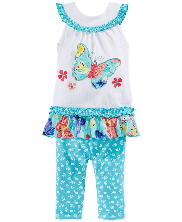 Bonnie Jean Little Girls' 2-Piece Butterfly Top & Leggings Set