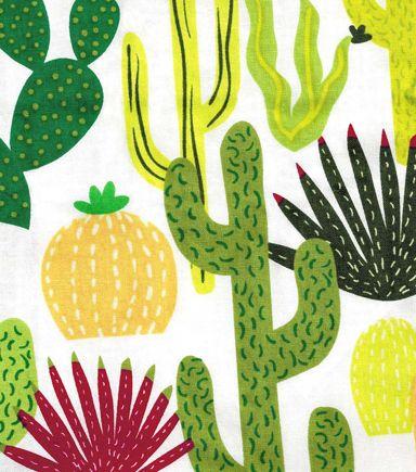 Cactus Multi Cotton Fabric Ronin Cactus Fabric Fabric