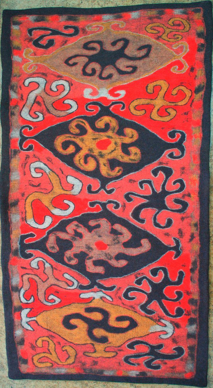 Ala kiyiz - felt rug. 100% sheep wool. Solid felted, seamless. 256*141 cm. Handmade in Kyrgyz Republic.