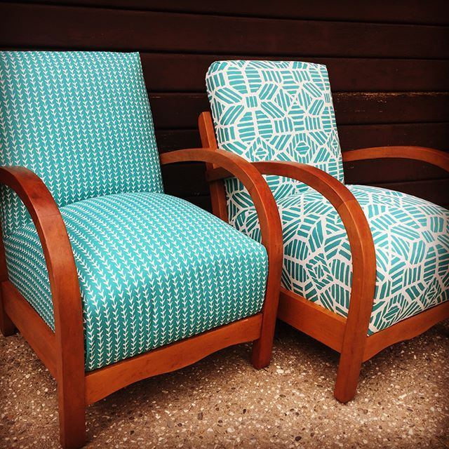 Love the arms on these armchairs. Mid-Century at its best. #queenstownupholstery #arrowtownnz #arrowtownupholstery #lilyandvine #midcentury #queenstownshopping