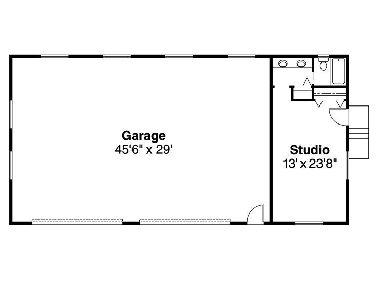 white com save attached garage detached eplans icon collection plans arrow at floor