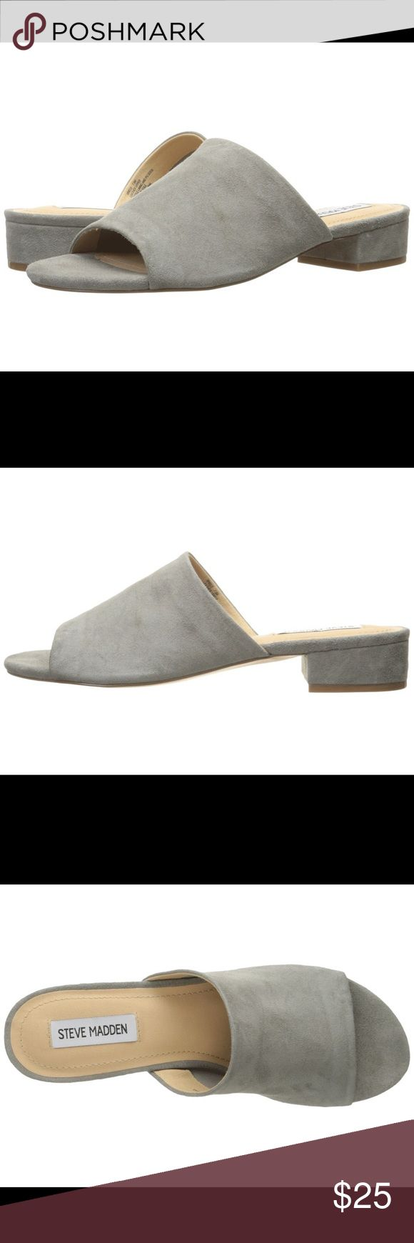 Steve Madden Briele Mules in Grey Suede Steve Madden Briele Mules in Grey Suede. Bought this summer. Comfortable and soft. Steve Madden Shoes Mules & Clogs