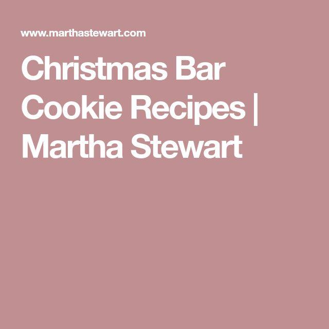 Christmas Bar Cookie Recipes | Martha Stewart