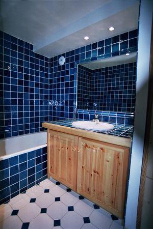 carrelage bleu m diterran e cuisine salle de bains fa ence de provence salernes. Black Bedroom Furniture Sets. Home Design Ideas