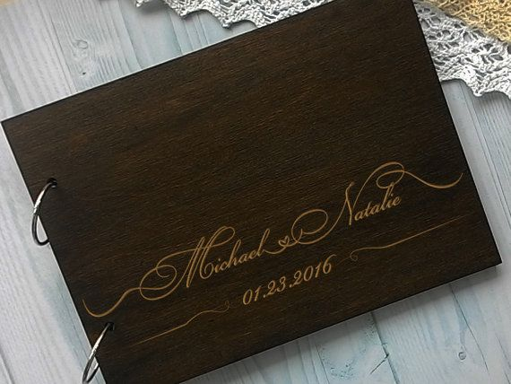 Personalised Wedding Guest Book Rustic Guest by WeddingRusticDeco