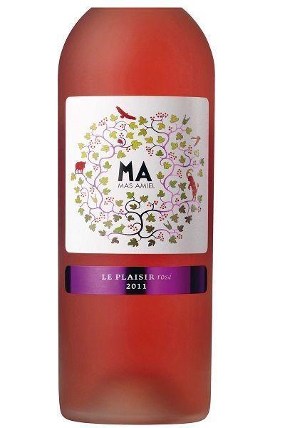Côtes du Roussillon rosé Mas Amiel vin étiquette - Dix bons vins aux étiquettes originales - L'EXPRESS