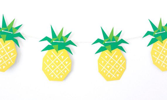 Geometric Pineapple Garland by The Chaos Club