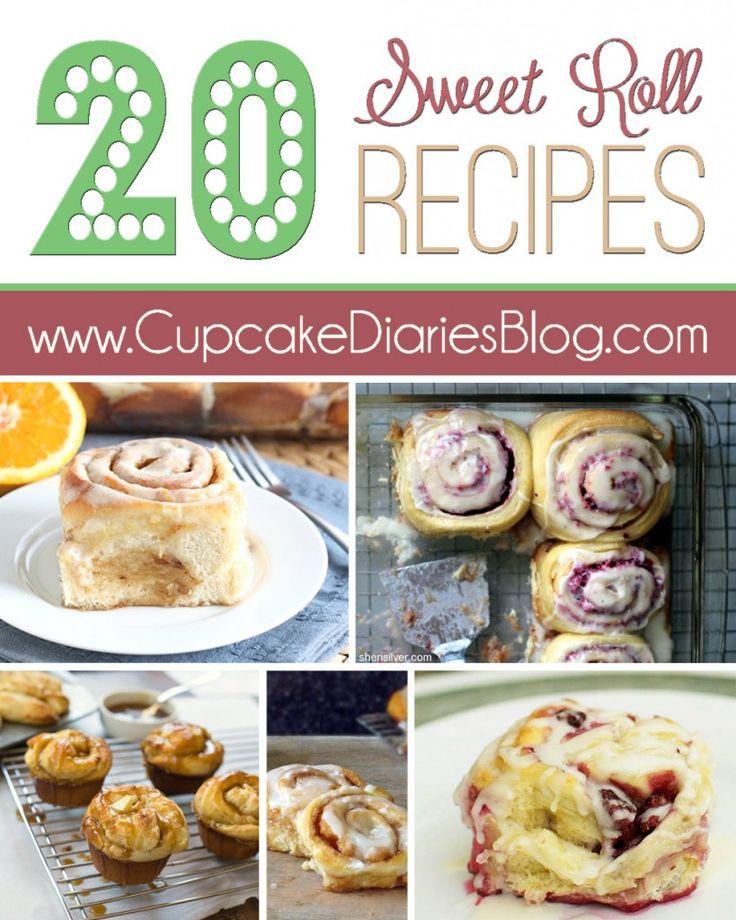 20 of the Best Sweet Roll Recipes #sweetrolls | CupcakeDiariesBlog.com