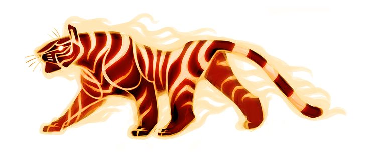 Fire Tiger Again by *TastesLikeAnya on deviantART