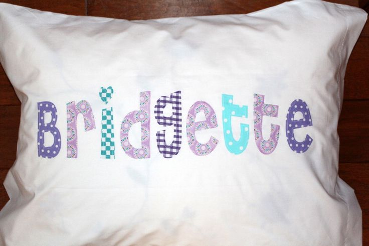 Girl's Personalized Pillow case custom name applique unique birthday gift idea slumber party pillowcase girls bedding nap mat cover kids by thepunkinpatch on Etsy https://www.etsy.com/listing/400019021/girls-personalized-pillow-case-custom