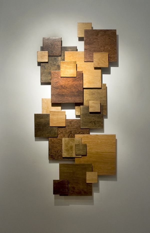 Wooden square wall art.