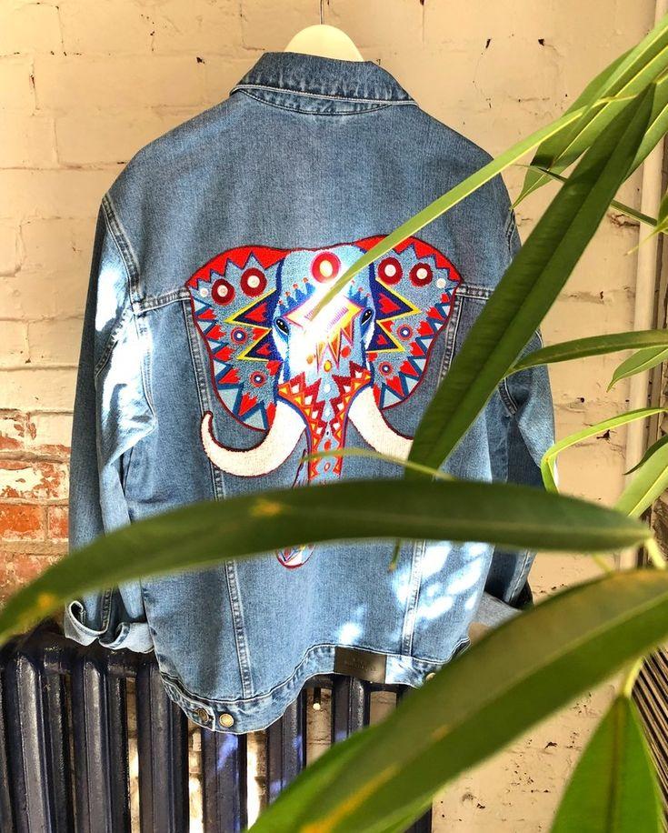 Denim jacket from SS18 collection. #katyadobryakova #катядобрякова #ss18 #новаяколлекция #details #summer #spring  #africa #denim