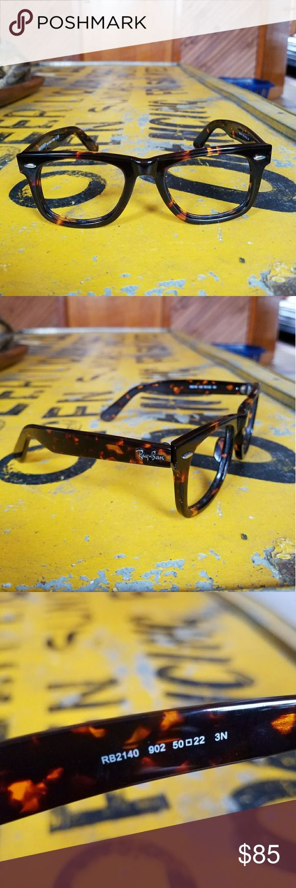 Ray Ban Original Wayfarer Frames Only Made in Italy. Original Wayfarer. Tortoise color. RB2140, 50mm. Unisex style. Frames ONLY- can be fitted with sunglass and/or clear prescription lenses. Never goes out of style. ray ban Accessories Sunglasses