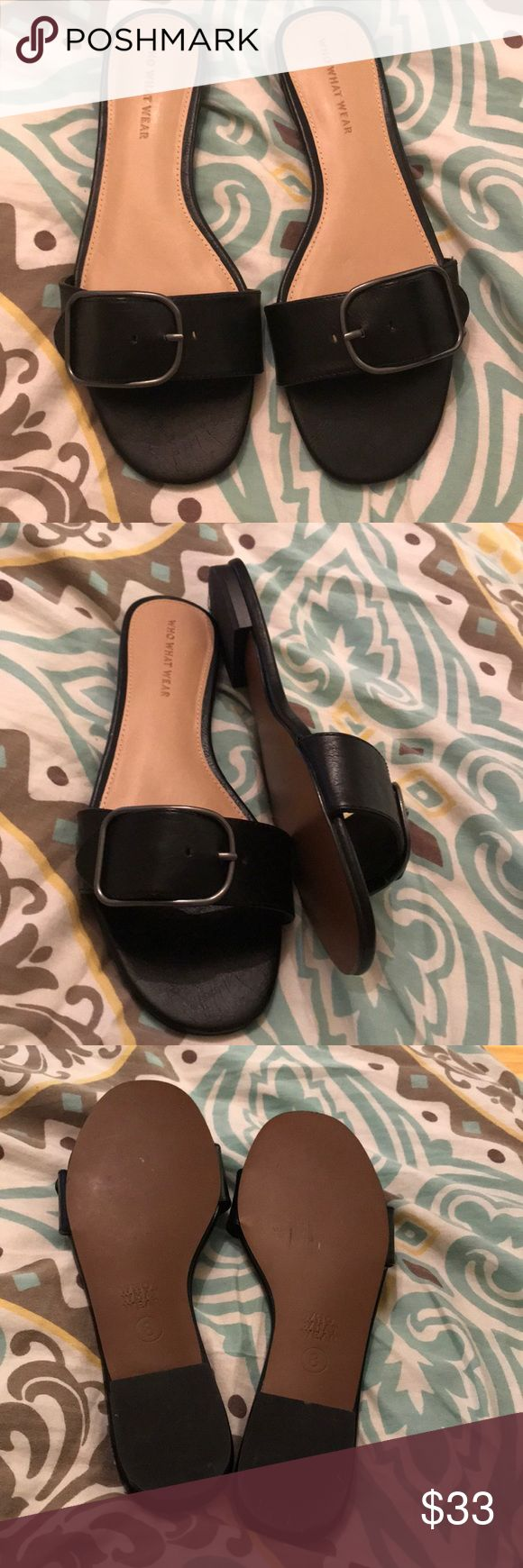 Sandals Who wants where new sandals Caesars size 8 black Who want where Shoes Sandals