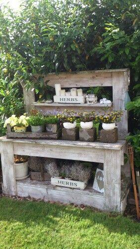 Gartengestaltung... mit Pflanztisch