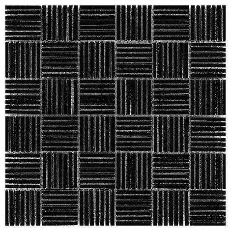 Pure Black TATAMI 48 - DUNIN. sticks, mozaika, black mosaic, czarna mozaika,