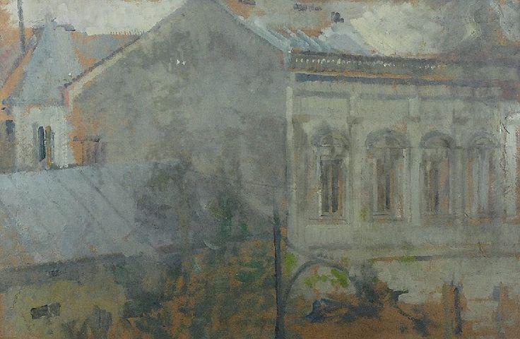 Olga BOZNAŃSKA (1865-1940)  Widok z okna krakowskiej pracowni olej, tektura; 48 x 74 cm;