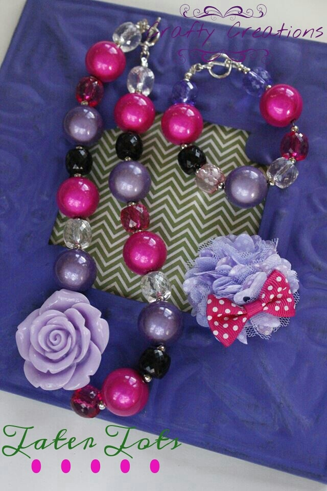 Crafty Creations GumBall necklace and bracelet.
