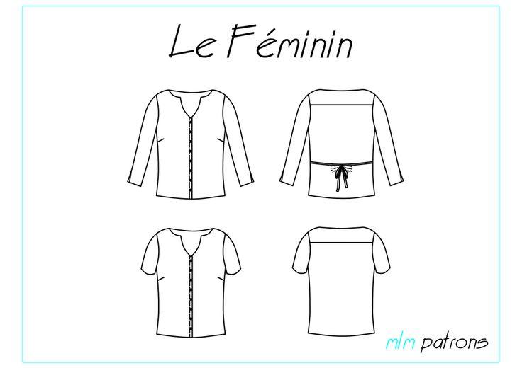 MLM Patrons - chemisier Le Féminin - patron PDF : 5€
