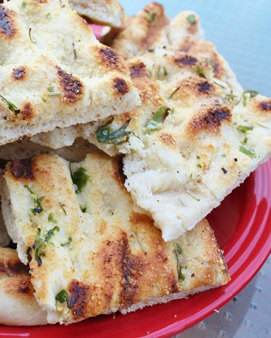 This grilled focaccia bread is perfect for sandwiches, side dishes, pizza—even as a dipper for hummus or tzatziki sauce.