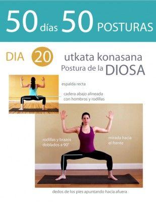50 días 50 posturas. Día 20. Postura de la Diosa