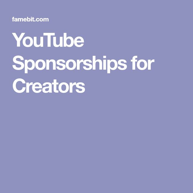 YouTube Sponsorships for Creators