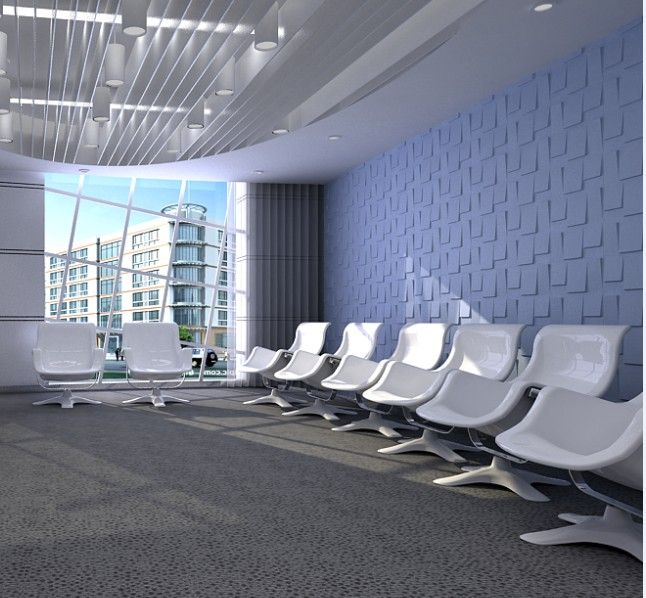 """A commercial conference space featuring our """"Rubik"""" pattern."""