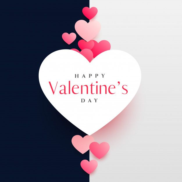 Modern Happy Valentine S Day Greeting Card Design Template Happy