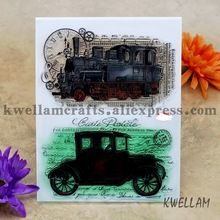 Classic Cars Scrapbook DIY photo cards account rubber stamp clear stamp transparent stamp 14x18cm KW6122509(China (Mainland))