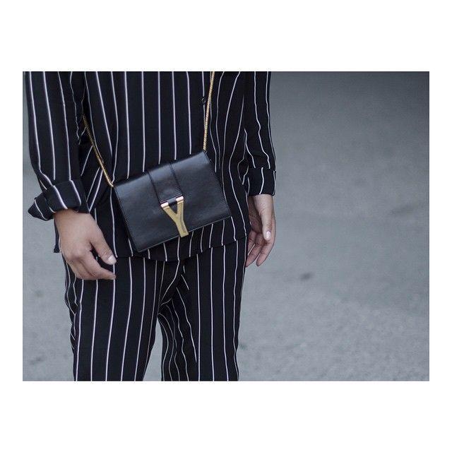 Twist & Tango stripes, Saint Laurent bag