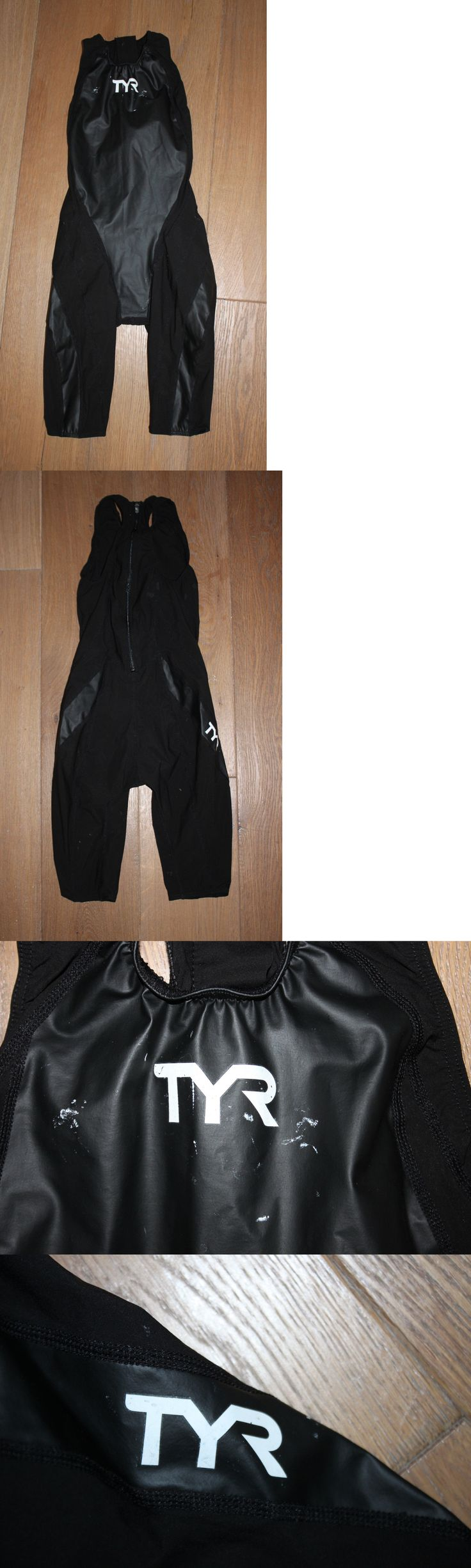 Women 140051: New Tyr Womens Black Tracer Rise Short John Zipper Back Tri Suit - Usa Made - 28 BUY IT NOW ONLY: $54.95